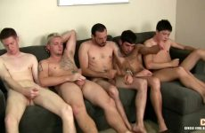 Een verscheidenheid aan homos masturberen saampjes
